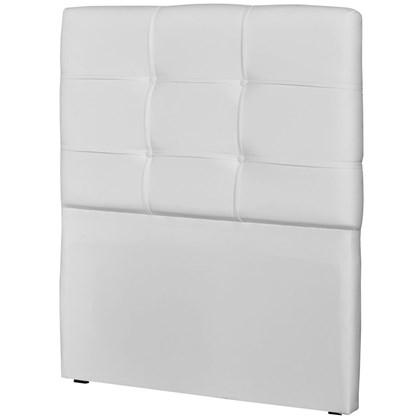 Cabeceira Solteiro Cama Box 90 cm London Corino Branco - JS Móveis