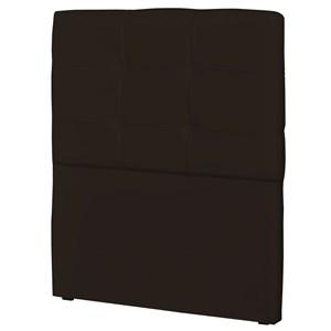 Cabeceira Solteiro Cama Box 90 cm London Corino Marrom - JS Móveis