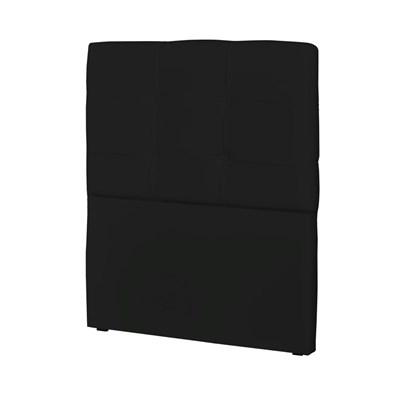 Cabeceira Solteiro Cama Box 90 cm London Corino Preto - JS Móveis