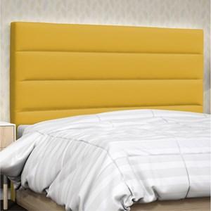 Cabeceira Solteiro Greta 90 cm Corino Amarelo - D'Monegatto