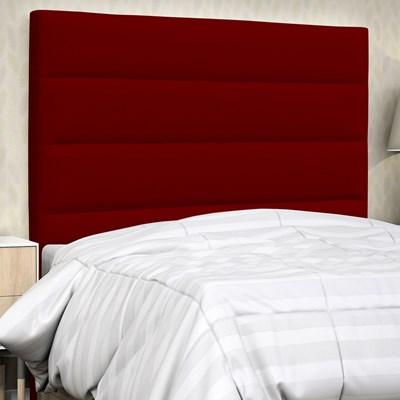 Cabeceira Solteiro Greta 90 cm Suede Liso Vermelho - D'Monegatto