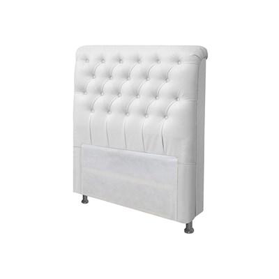 Cabeceira Solteiro Livia para Cama Box de 90 cm Corano Branco - Js Móveis