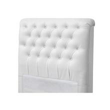 Cabeceira Solteiro Livia para Cama Box de 90 cm Corino Branco - Jm Estofados