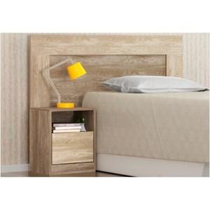 Cabeceira Solteiro para Box 88 cm com 01 Criado London Nogal/Vanilla - Demóbile