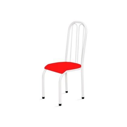 Cadeira Alta 0.112 Anatômica Branco/Vermelho - Marcheli