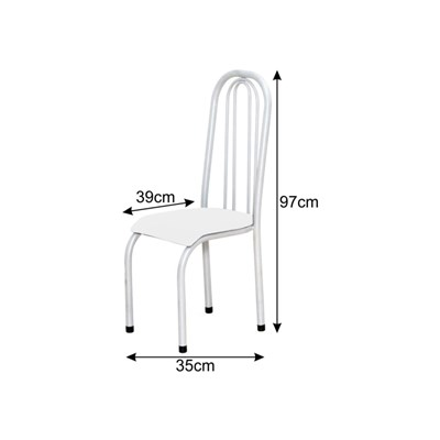 Cadeira Alta 0.123 Anatômica Branco/Marrom Escuro - Marcheli