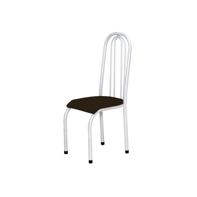 Cadeira Alta 0.123 Anatômica Branco/Tabaco - Marcheli