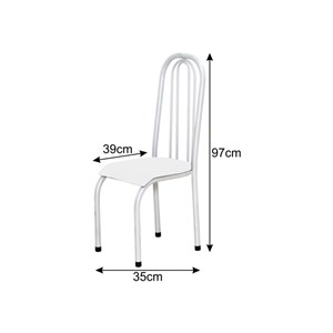 Cadeira Alta 0.123 Anatômica Branco/Vermelho - Marcheli