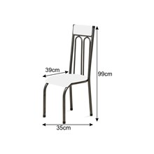 Cadeira Anatômica 0.120 Estofada Craqueado/Azul - Marcheli