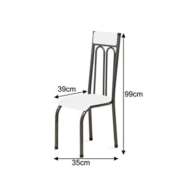 Cadeira Anatômica 0.120 Estofada Craqueado/Marrom Escuro - Marcheli