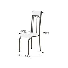 Cadeira Anatômica 0.120 Estofada Craqueado/Vermelho - Marcheli