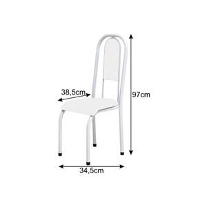 Cadeira Anatômica 0.122 Estofada Branco/Preto Floral - Marcheli