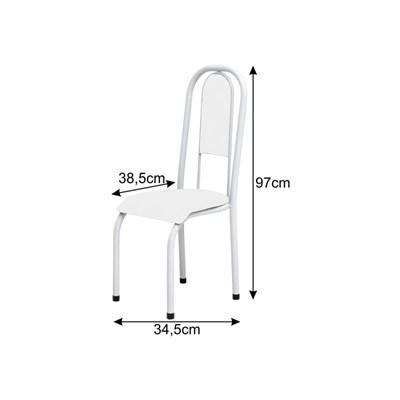 Cadeira Anatômica 0.122 Estofada Branco/Verde - Marcheli