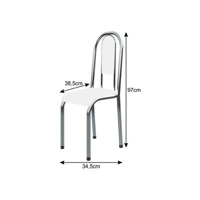 Cadeira Anatômica 0.122 Estofada Cromado/Branco - Marcheli