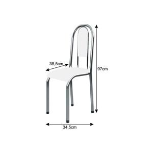 Cadeira Anatômica 0.122 Estofada Cromado/Preto - Marcheli