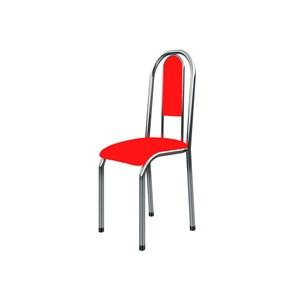 Cadeira Anatômica 0.122 Estofada Cromado/Vermelho - Marcheli