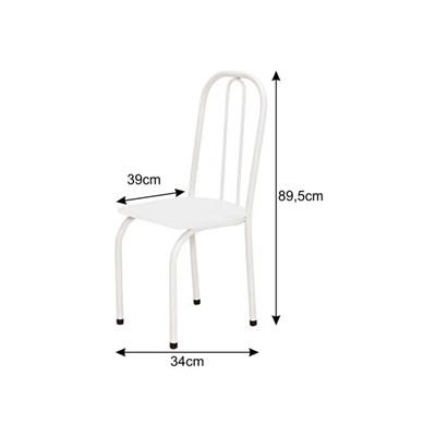 Cadeira Baixa 0.101 Assento Reto Branco/Vermelho - Marcheli