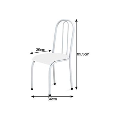 Cadeira Baixa 0.104 Anatômica Branco/Azul - Marcheli