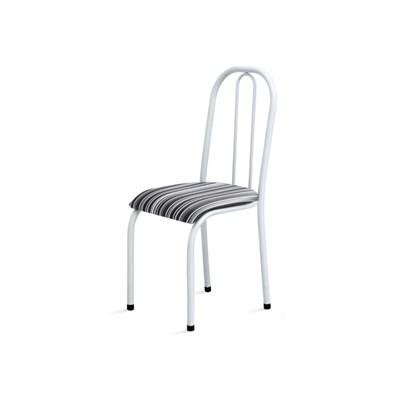 Cadeira Baixa 0.104 Anatômica Branco/Listrado - Marcheli