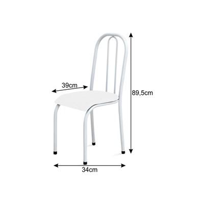 Cadeira Baixa 0.104 Anatômica Branco/Preto - Marcheli