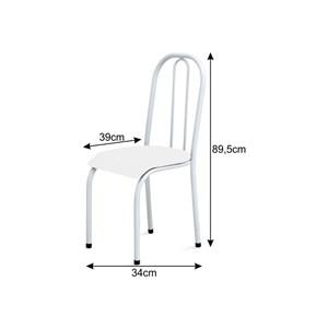 Cadeira Baixa 0.104 Anatômica Branco/Vermelho - Marcheli