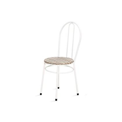 Cadeira Baixa 0.134 Redonda Branco/Bege - Marcheli