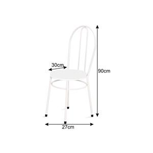 Cadeira Baixa 0.134 Redonda Branco/Laranja - Marcheli