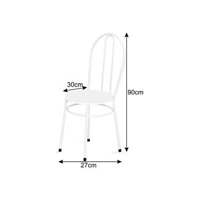 Cadeira Baixa 0.134 Redonda Branco/Preto - Marcheli