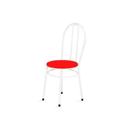Cadeira Baixa 0.134 Redonda Branco/Vermelho - Marcheli