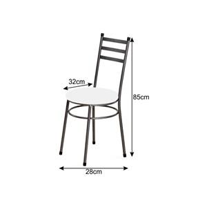 Cadeira Baixa 0.135 Redonda Craqueado/Branco - Marcheli
