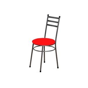 Cadeira Baixa 0.135 Redonda Craqueado/Vermelho - Marcheli