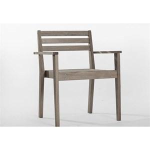 Cadeira com Braços Quarter Nogueira - Mão & Formão
