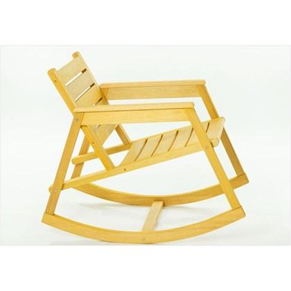 Cadeira de Balanço Janis Stain Amarelo - Mão & Formão