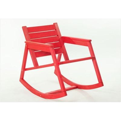 Cadeira de Balanço Janis Stain Vermelho - Mão & Formão
