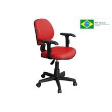 Cadeira de Escritório CE-01BPBT Executiva Giratória Vermelha - Pethiflex