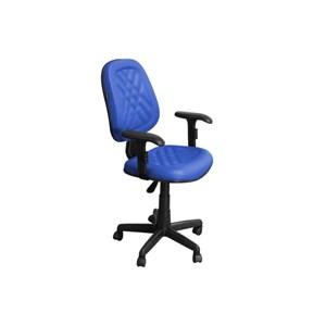 Cadeira de Escritório CE-02GPBT Executiva Giratória com Costura Azul - Pethiflex