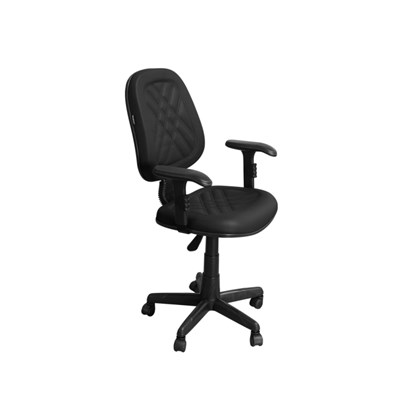 Cadeira de Escritório CE-02GPBT Executiva Giratória com Costura Preta - Pethiflex