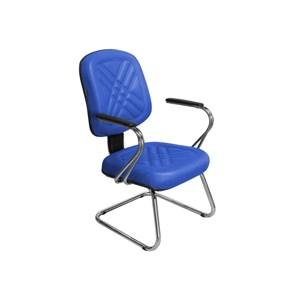 Cadeira de Escritório Cromos PD-04SCBC Diretor Fixa Azul - Pethiflex