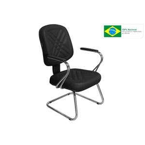 Cadeira de Escritório Cromos PD-04SCBC Diretor Fixa Preta - Pethiflex