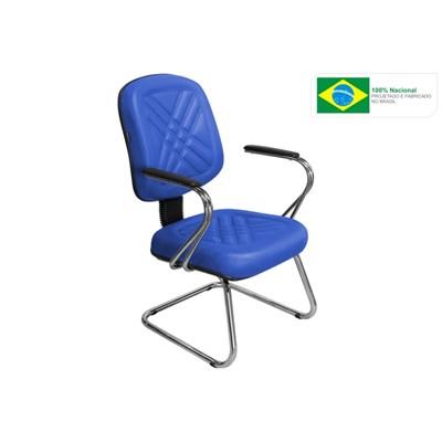 Cadeira de Escritório Cromos PD03 Diretor Fixa Azul - Pethiflex