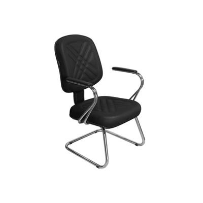 Cadeira de Escritório Cromos PD03 Diretor Fixa Preta - Pethiflex
