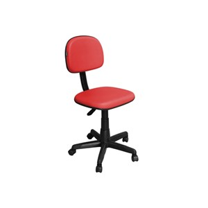 Cadeira de Escritório CS-02 Secretária Giratória Vermelha - Pethiflex