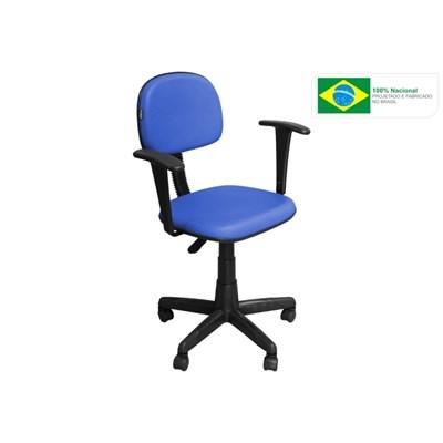 Cadeira de Escritório CS03 Secretária Giratória Braço Fixo Azul - Pethiflex