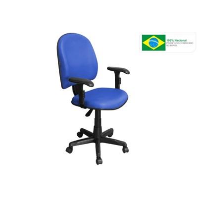 Cadeira de Escritório Excellence PE01 Executiva Giratória Braços Reguláveis Azul - Pethiflex