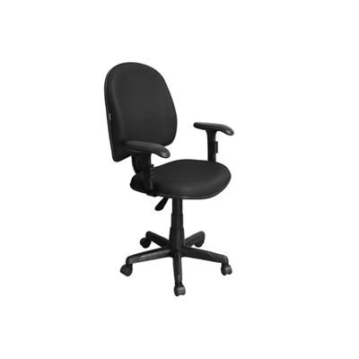 Cadeira de Escritório Excellence PE01 Executiva Giratória Braços Reguláveis Preta - Pethiflex
