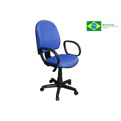 Cadeira de Escritório Excellence PE02 Executiva Giratória Azul - Pethiflex