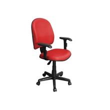 Cadeira de Escritório Excellence PEGBD Executiva Giratória Braços Reguláveis Vermelha - Pethiflex