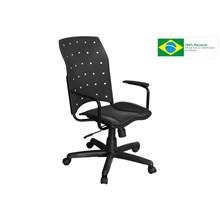 Cadeira de Escritório Iso Presidente Giratória Preta - Pethiflex