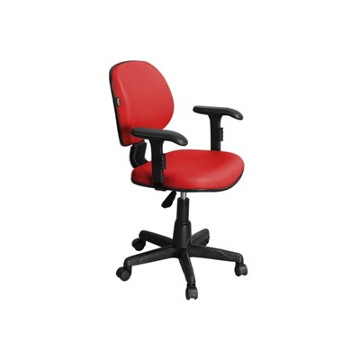 Cadeira de Escritório LE01 Executiva Giratória Vermelha - Pethiflex