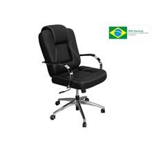 Cadeira de Escritório Mônaco Presidente Giratória Preta - Pethiflex